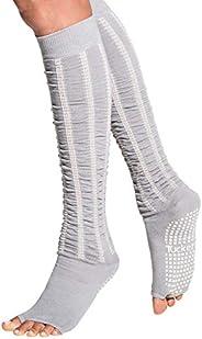 Tucketts Knee High Toeless Non-Slip Grip Socks, Yoga, Barre, Pilates