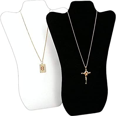 f480f7f7015 Image Unavailable. Image not available for. Color  FindingKing 2 Tall Curved  Necklace Easel Display Black ...