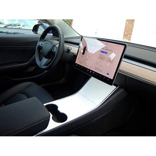 EV Wraps Tesla Model 3 Center Console Wrap Matte Deep Black