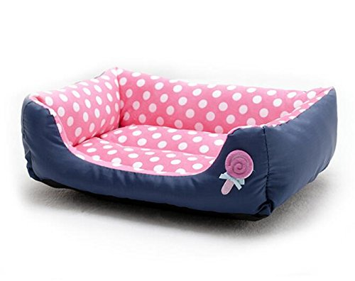 BinSanDa Prodotti per Animali Warm Wave Point Lollipop Pet Nest Forniture per Animali rosa
