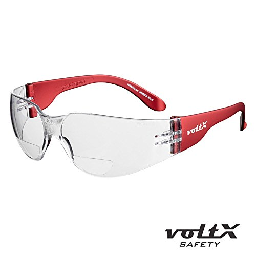 71478690046 voltX GRAFTER Bifocal Lightweight Reading Safety Glasses  Cycling Sports Glasses  CE EN166f certified (CLEAR LENS +1.5 Dioptre)