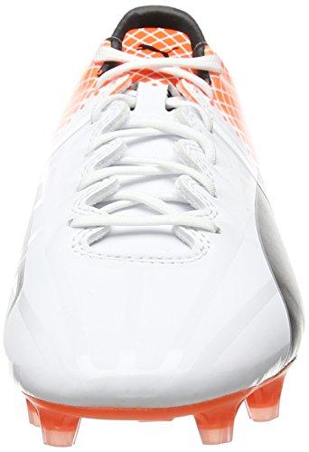 Puma Herren evoSPEED 1.5 Tricks FG Fußballschuhe, Weiß White Black-Shocking Orange 05, 43 EU