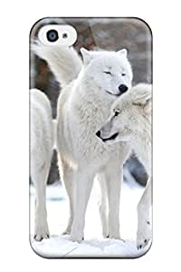 Best Protective Tpu Case With Fashion Design For Iphone 4/4s (arctic Wolf)