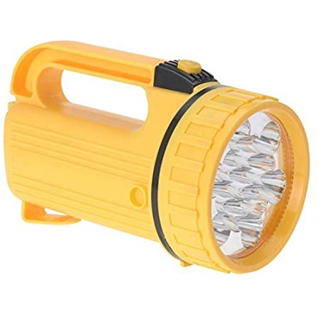 Redcliffs 13 Led Torch Outdoor Lantern Spotlight Camping Festival Hiking Power Head Lamp Emergency Battery Powered Handheld Work Light With Handle RedcliffsTorch