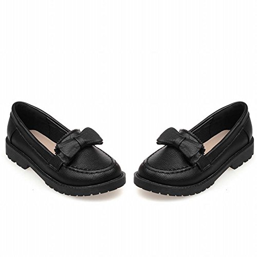 Show Shine Womens Fashion Sweet Archi Mocassini Flats Shoes Nero