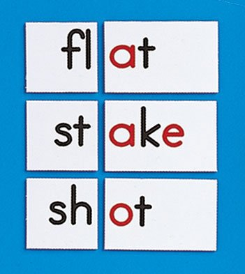Primary Concepts AA1403 Letter Cluster Tiles (4-pack) (Teaching Chunks Of Languages)