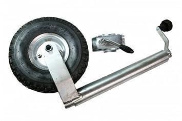 Luftbereiftes Stützrad für PKW-Anhänger Stützlast 150 kg Stahlblechfelge