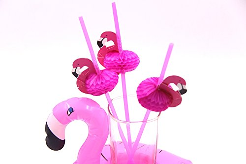 Sparties Costumes (New 20PCS/Lot Cute 3D Flamingo Straw Bendy Flexible Plastic Drinking Straws Kids Birthday/Wedding/Pool Party Decoration Supplies)