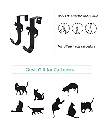 Amazon.com: Funnuf Pack de 4 colgadores decorativos para ...