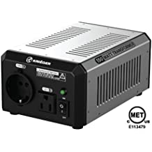 KRIËGER 150 Watt Voltage Transformer 120V to from 230V AC outlet American European Step up down Converter 50 60 Hz outlets includes IEC German Schuko Nema 5-15P cord MET approved under UL CSA
