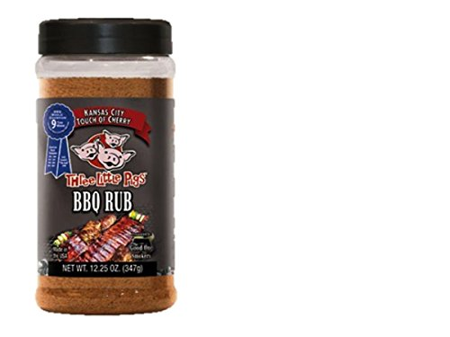 Three Little Pigs Touch of Cherry BBQ Rub Large 12.25 oz ()