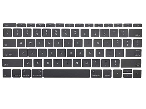 (Individual Replacement Key Cap Set US Keyboard replacement Keycaps keys QWERTY for Macbook Pro Retina 12