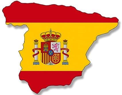 Forma de España Bandera española (País adhesivo Espana): Amazon.es ...