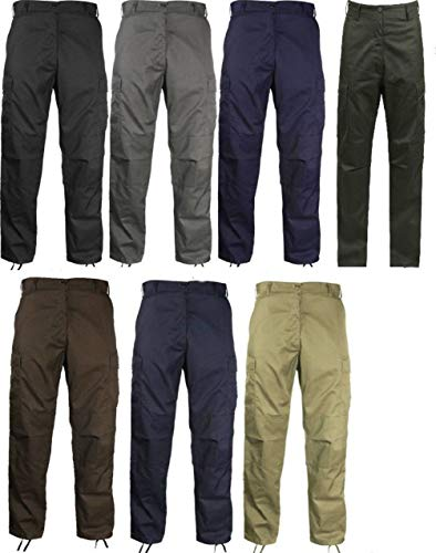 hersrfv clothing 1pc Black Coyote Navy Blue Brown Olive Drab Gray Military Fatigue BDU Cargo Pants