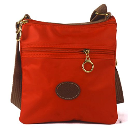 Square Messenger Small YouNuo Satchel 3 Shape Layers Purse Bag Waterproof Red for Women Nylon Cute Shoulder S4w5qgwx