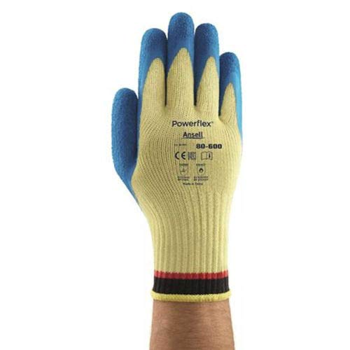 (PowerFlex Cut Reisistant Gloves, Ansell 80-600-10, 1-Pair, (Pack of 5) (80-600-10))