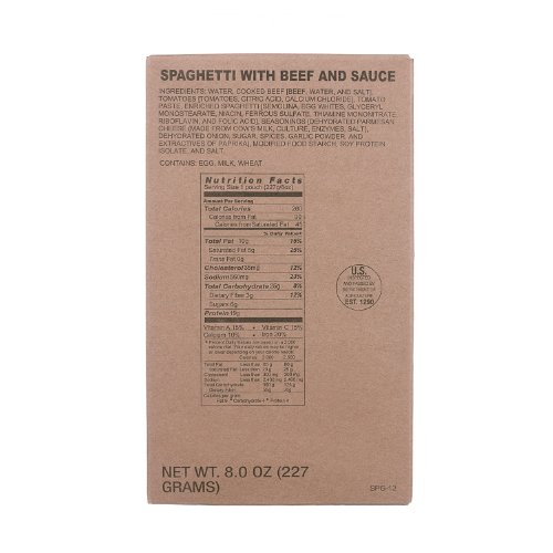 MRE Entree Spaghetti with Meat Sauce ()