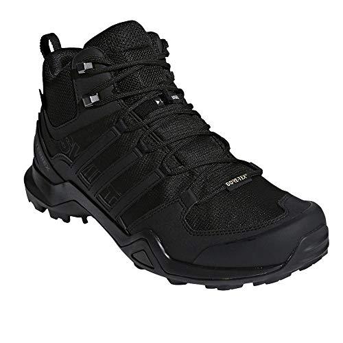 (adidas outdoor Men's Terrex Swift R2 Mid GTX Black/Black/Black 10.5 D US)