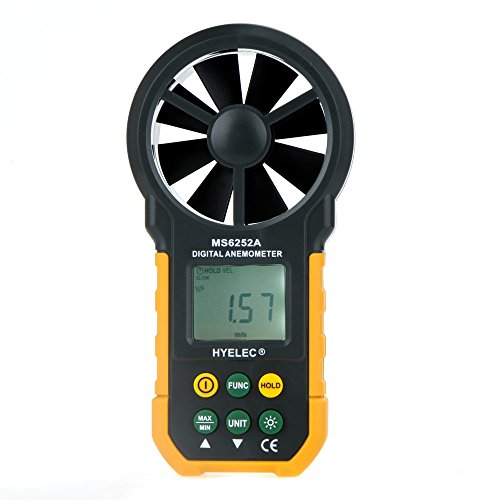- Signature@ HYELEC MS6252A Portable LCD and Backlight Air Volume Meter Multifunction Digital Anemometer Professional Anemometer Handheld