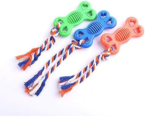 犬のホリデーギフト おもちゃの犬、犬のための持続可能な咀wingきしむおもちゃ、屋内と屋外のかわいいぬいぐるみアヒル鹿犬のおもちゃ トラブルと喜びを減らす (Color : Bonerandom Color, Size : One Size)