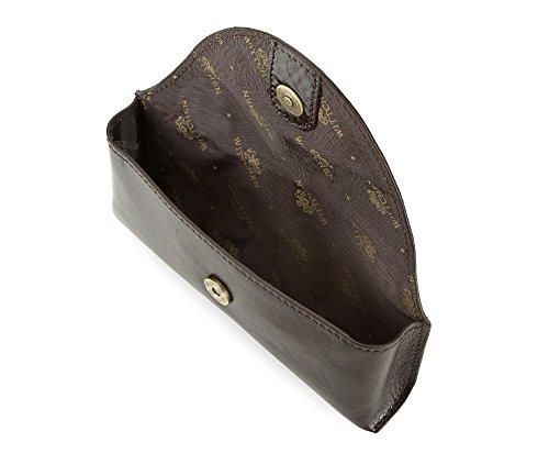 WITTCHEN caso, Marrone Scuro, Dimensione: 7.5x17 cm - Materiale: Pelle di grano - 21-2-227-4