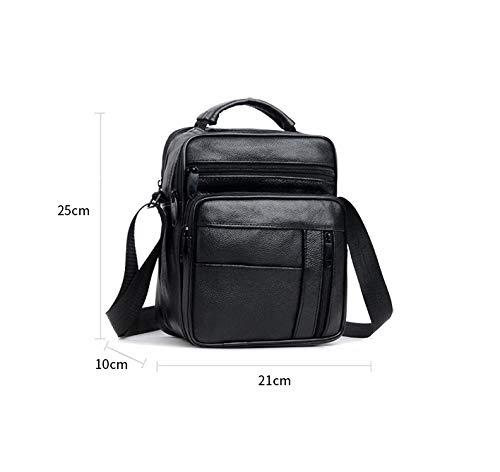 High Capacity GOODLQ Leather Mens Shoulder Bag Messenger Bag Casual Business Handbag Briefcase