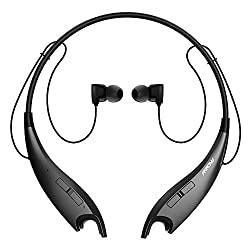 Mpow Jaws V4.1 Bluetooth Headphones Wireless Neckband Headset Stereo Noise Cancelling Earbuds Wmic-black