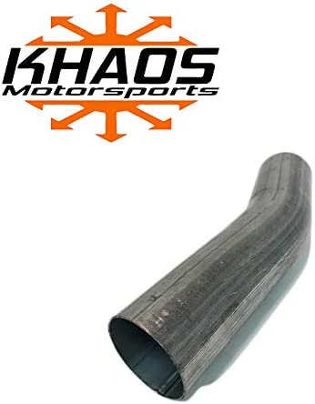 "2/""  22.5 degree 16ga Aluminized Mandrel Bend Exhaust Tubing Pipe Turbo Downpipe"