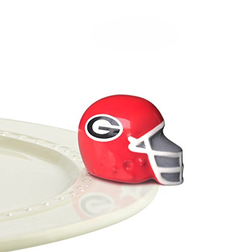 Nora Fleming Hand-Painted Mini: U Georgia Helmet (University of Georgia football helmet) A303