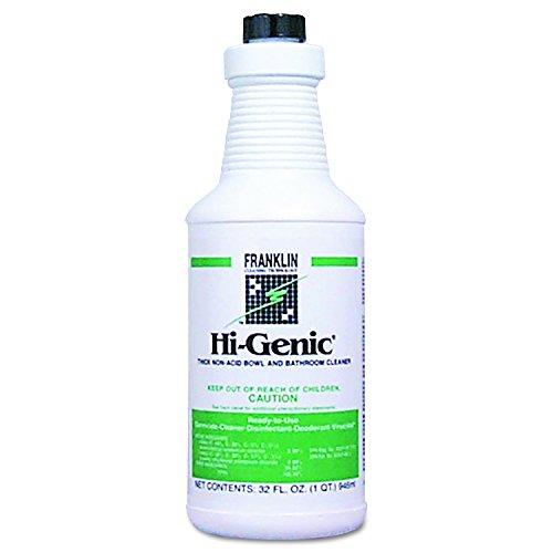 Franklin Cleaning Technology F270012CT Hi-Genic Non-Acid Bowl & Bathroom Cleaner, 32oz Bottle (Case of 12)