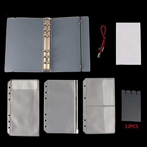 South-Dragon - 1 Set Transparent Loose Binder Leaf A6 Size Inner Page Cover Notebook Diary Planner Office Supplies Collection ()