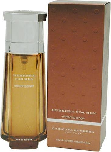 Carolina Herrera Ginger Eau De Toilette (Herrera Refreshing Ginger By Carolina Herrera For Men. Eau De Toilette Spray 3.4 Oz.)