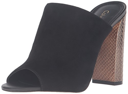 Calvin Leather Suede Klein Women's Black Janica Y0YrSZ