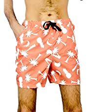 Printed Swim Shorts above knee (Palms print) شورت سباحة مطبوع نخل من جروي