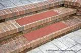 """Dean Premium Indoor/Outdoor Carpet Non Skid Stair Treads - Terra Cotta 24"""" x 9"""" (Set of 4)"""