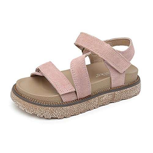 GIY Women's Platform Sandal Comfort Open Toe Chunky Ankle Strap Footbed Walking Wedge Sandal Shoes -