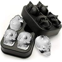 Forma de gelo 3D em formato caveira serve para chocolate, gelatina e outros