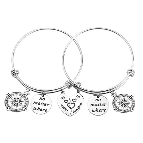 ere Mother Daughter Split Broken Heart Bracelet Set Mom Grandma (Mother Daughter Bracelet Set) ()