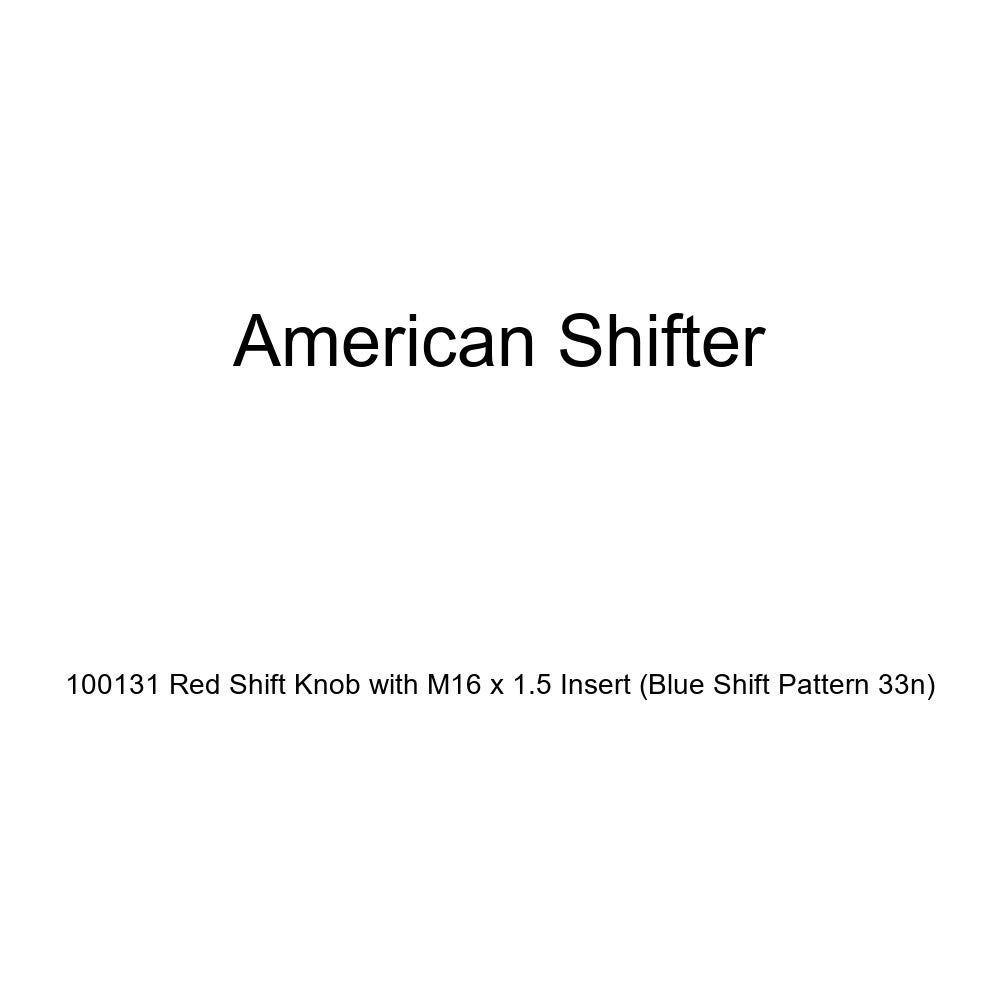 American Shifter 100131 Red Shift Knob with M16 x 1.5 Insert Blue Shift Pattern 33n