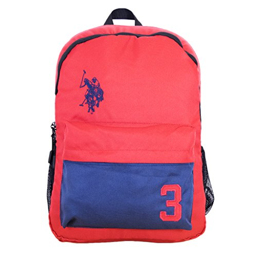 U.S. Polo Assn. 3 Laptop Backpack, Red, One Size