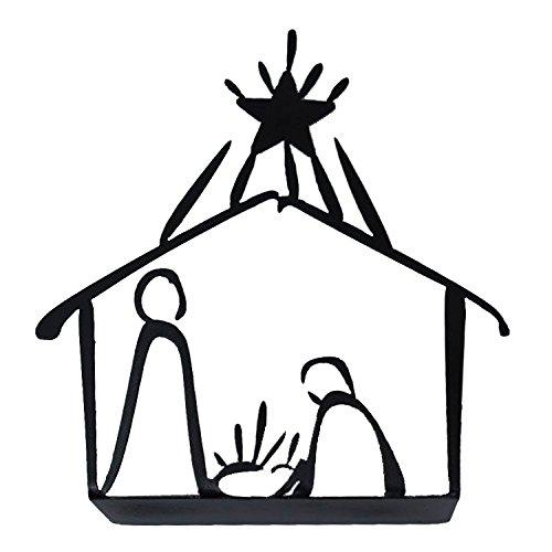 Creative Home & Garden Tabletop Christmas Holiday Nativity - Metal (Charcoal) from Creative Home & Garden