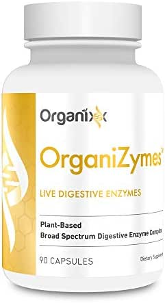 OrganiZymes by Organixx - Live Digestive Enzymes for Heartburn, Acid Reflux and Bloating Relief. Only From Organixx