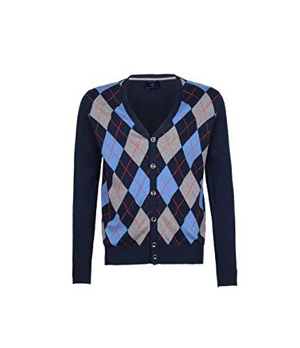 Argyle Cardigan Sweater - 1
