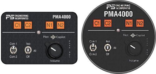 PS Engineering PMA4000 4-place Intercom/Audio Panel