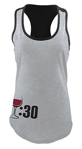 Tipsy Blonde Wine   Thirty Heather Grey And Black Colorblock Racerback Tank   Red Wine   Medium