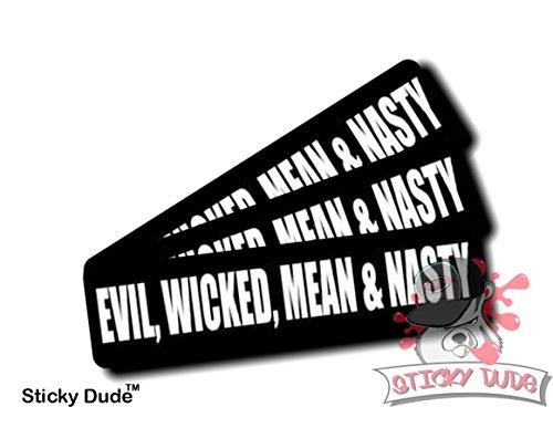 three-3-pcs-evil-wicked-mean-nasty-1-1-4-x-3-inches-high-resolution-print-hard-hat-biker-helmet-stic
