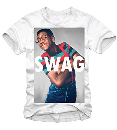 Wintree Mens T-Shirt Steve Urkel Geek Hipster Eleven Inspired Classic Gift T-Shirts White (Steve Urkel Hipster)