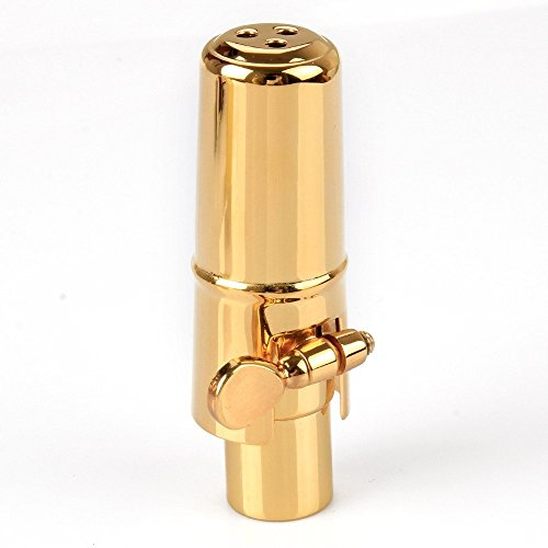 Aibay Gold Plated Metal Bb Soprano Saxophone Mouthpiece + Cap + Ligature #7 by Aibay® (Image #2)