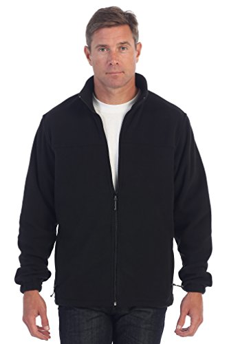 Gioberti Mens Full Zip Polar Fleece Jacket, Black, Medium
