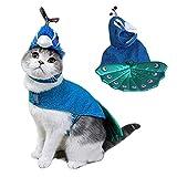 Legendog Christmas Pet Costume Fashion Peacock Cosplay Cat Costume Pet Apparel